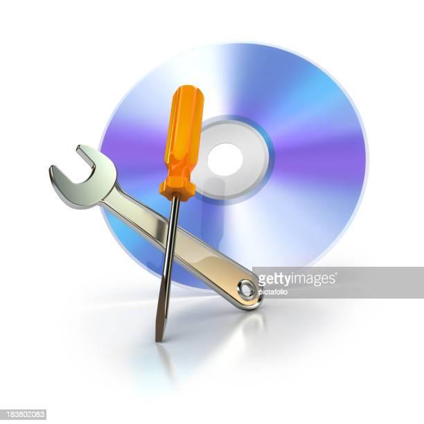 cd ou un dvd avec des outils de soutien