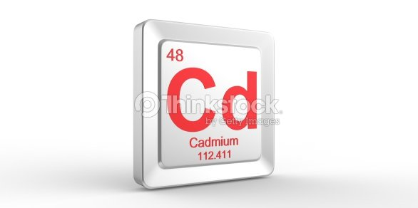 Cd Symbol 48 Material For Cadmium Chemical Element Stock Photo