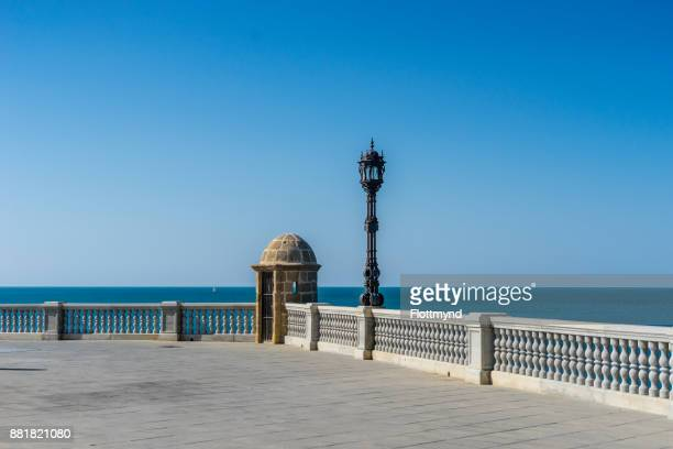Cádiz waterfront Walkway, Andalucia, Spain
