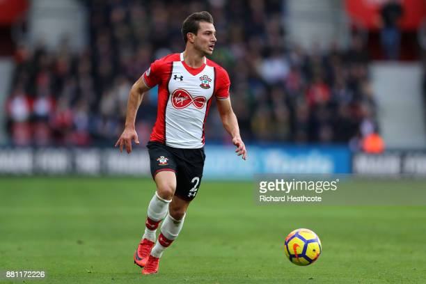 Cédric Soares of Southampton in action during the Premier League match between Southampton and Everton at St Mary's Stadium on November 26 2017 in...