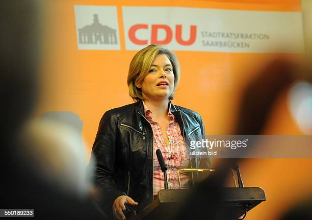 CDUMatinée mit Julia Klöckner Landes und Fraktionsvorsitzende der CDU RheinlandPfalz im Rathausfestsaal in Saarbrücken