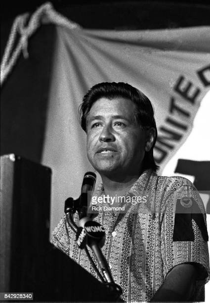 Ceasar Chavez addresses The Young Democrats in Louisville Kentucky on August 11 1973