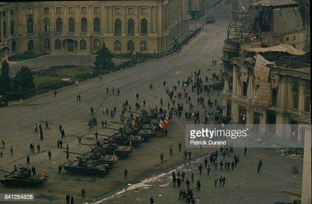 Ceausescu UPRISING IN BUCHAREST
