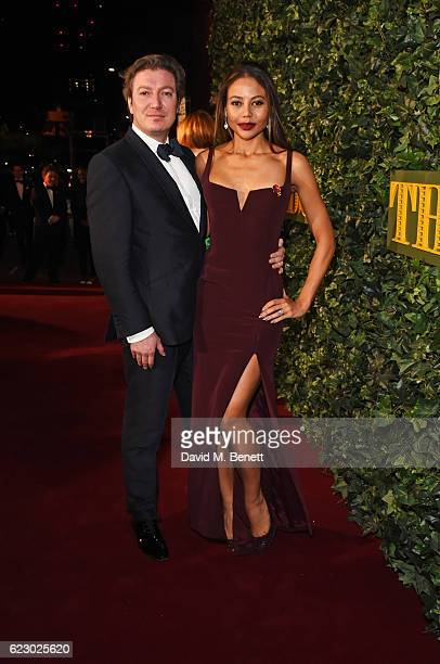 Ceawlin Thynn Viscount of Weymouth and Emma McQuiston Viscountess of Weymouth arrives at The 62nd London Evening Standard Theatre Awards recognising...