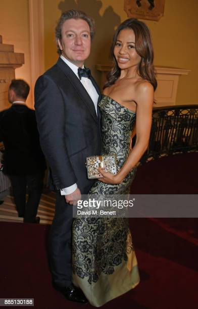 Ceawlin Thynn Viscount Weymouth and Emma Weymouth attend a drinks reception ahead of the London Evening Standard Theatre Awards 2017 at the Theatre...