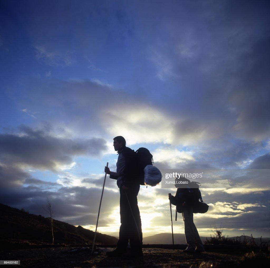 O Cebreiro Lugo Galicia Pilgrims in el Camino de Santiago