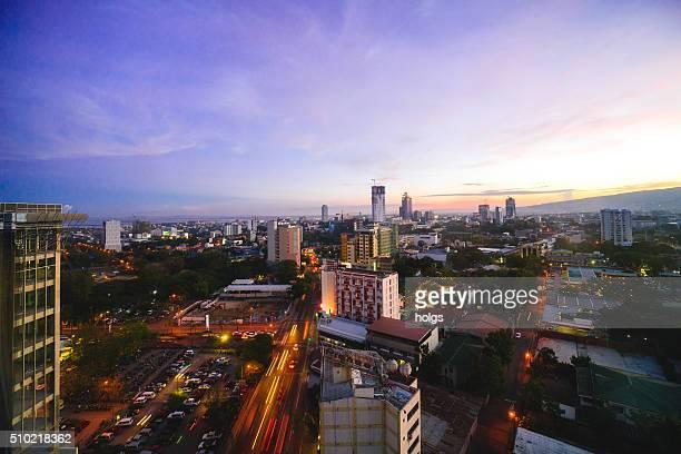 Cebu City skyline during sunset