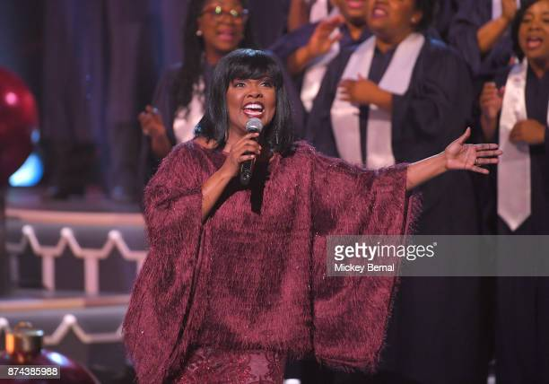 CeCe Winans performs during CMA 2017 Country Christmas at The Grand Ole Opry on November 14 2017 in Nashville Tennessee