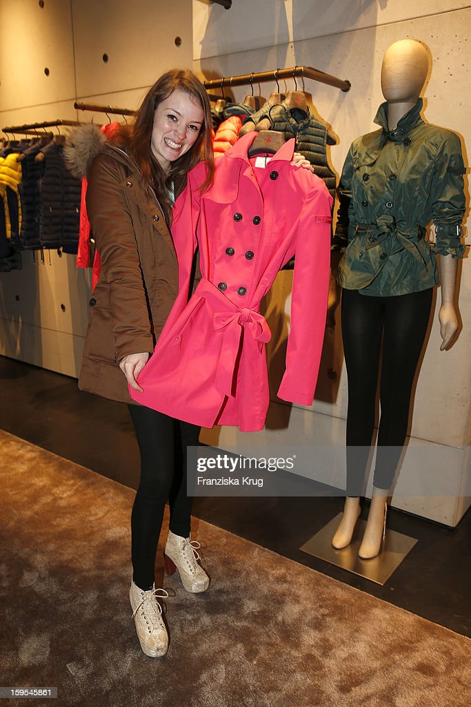 Ceci Chuh attends the 'Peuterey Cocktail Party' at Peuterey flagship store Kurfuerstendamm on January 15, 2013 in Berlin, Germany.