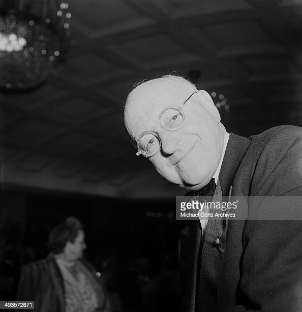 Cecil B DeMille attends an awards party in Los Angeles California