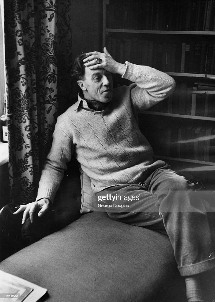 Cecil Day Lewis, (1904 - 1972) the Anglo-Irish poet and critic, having been appointed as Professor of Poetry at Oxford University. Original Publication: Picture Post - 5314 - Are Poets Really Necessary? - pub. 1951 Original Publication: People Disc - HG0332