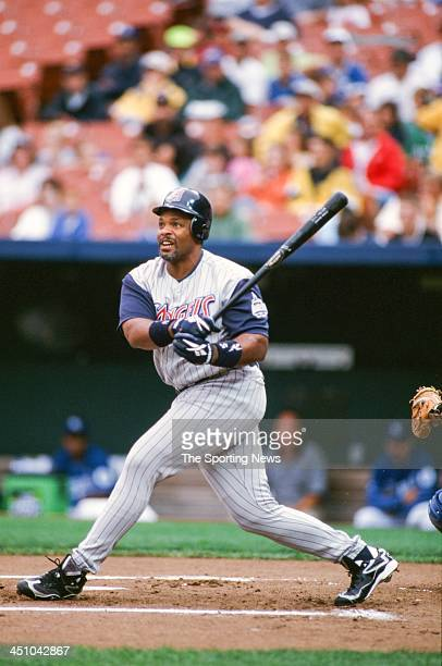 Cecil Fielder of the Anaheim Angels during the game against the Kansas City Royals on July 26 1998 at Kauffman Stadium in Kansas City Missouri