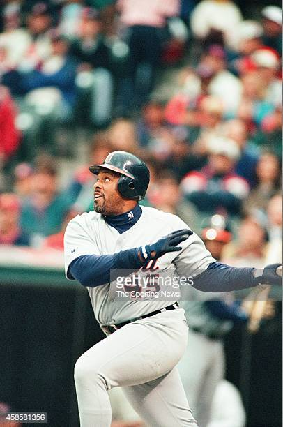 Cecil Fielder of the Detroit Tigers bats against the Cleveland Indians at Comerica Park on May 16 1996 in Detroit Michigan
