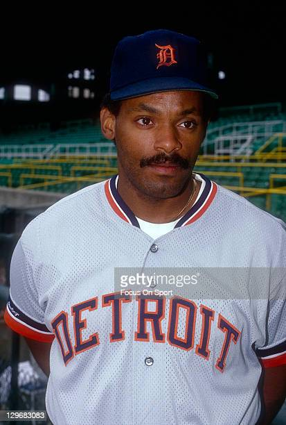 Cecil Fielder of the Detroit Tigers looks on during batting practice before an Major League Baseball game circa 1991 Fielder played for the Tigers...
