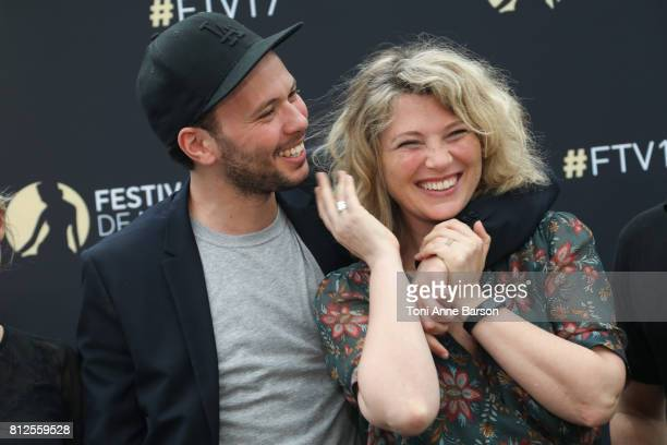 Cecile Bois and Ali Marhyar attend photocall for 'Candice Renoir' on June 17 2017 at the Grimaldi Forum in MonteCarlo Monaco
