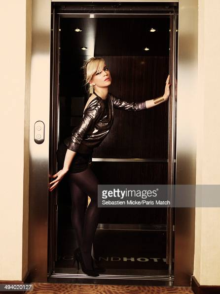 Cecile Cassel alias Hollysiz poses at the Hotel Martinez during the 67th Cannes film festiva on May 18 2014 in CannesFrance