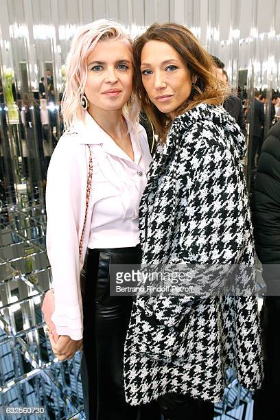 Cecile Cassel and Laura Smet attend the Chanel Haute Couture Spring Summer 2017 show as part of Paris Fashion Week on January 24 2017 in Paris France
