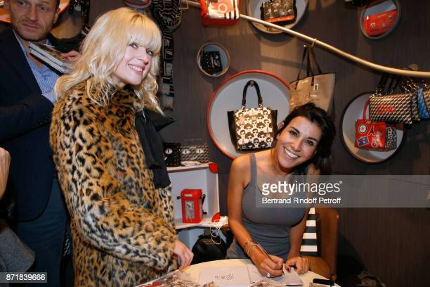 Cecile Cassel and Reem Kherici attend Reem Kherici signs her book 'Diva' at the Barbara Rihl Boutique on November 8 2017 in Paris France