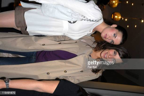 Cecile Cassel and Zoe Felix attend the Maje Paris St Sulpice Shop Opening Party on October 152007 In Paris France