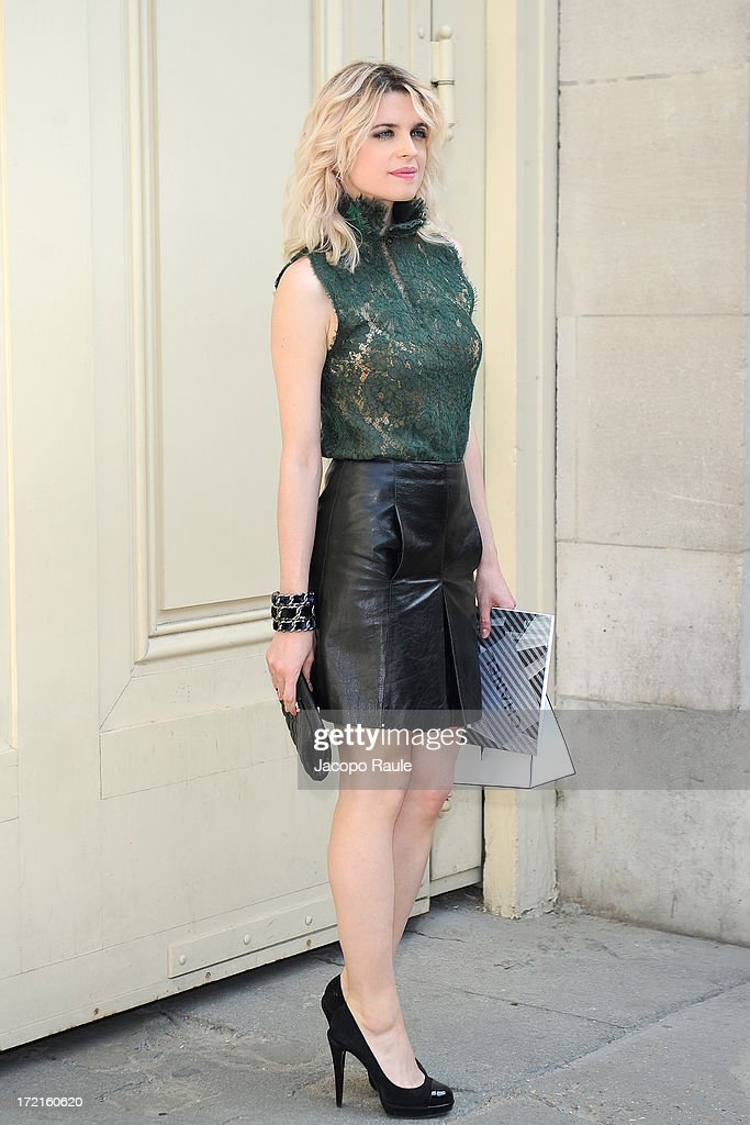 <a gi-track='captionPersonalityLinkClicked' href=/galleries/search?phrase=Cecile+Cassel&family=editorial&specificpeople=765054 ng-click='$event.stopPropagation()'>Cecile Cassel</a> attends the Chanel show as part of Paris Fashion Week Haute-Couture Fall/Winter 2013-2014 at Grand Palais on July 2, 2013 in Paris, France.
