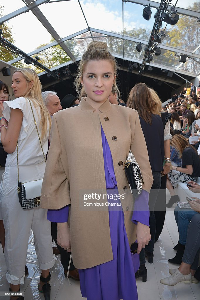 Cecile Cassel attends the Chloe Spring / Summer 2013 show as part of Paris Fashion Week at Espace Ephemere Tuileries on October 1, 2012 in Paris, France.