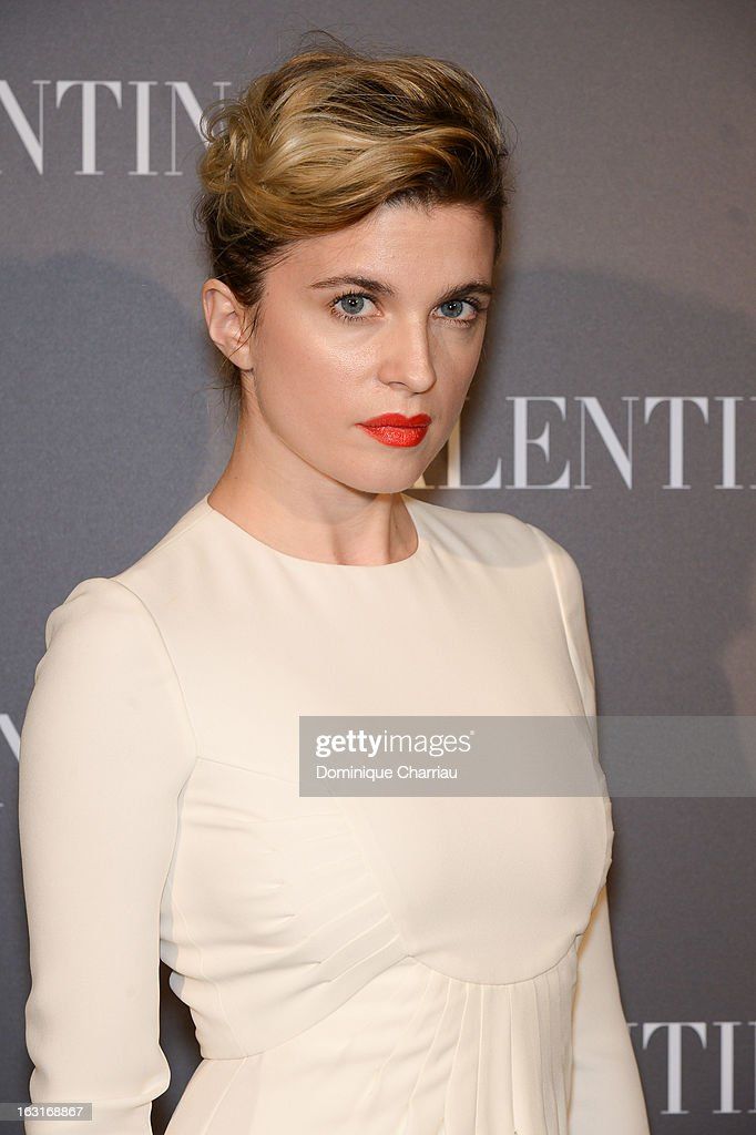 Cecile Cassel attends the Valentino Flagship Reopening Cocktail on March 5, 2013 in Paris, France.