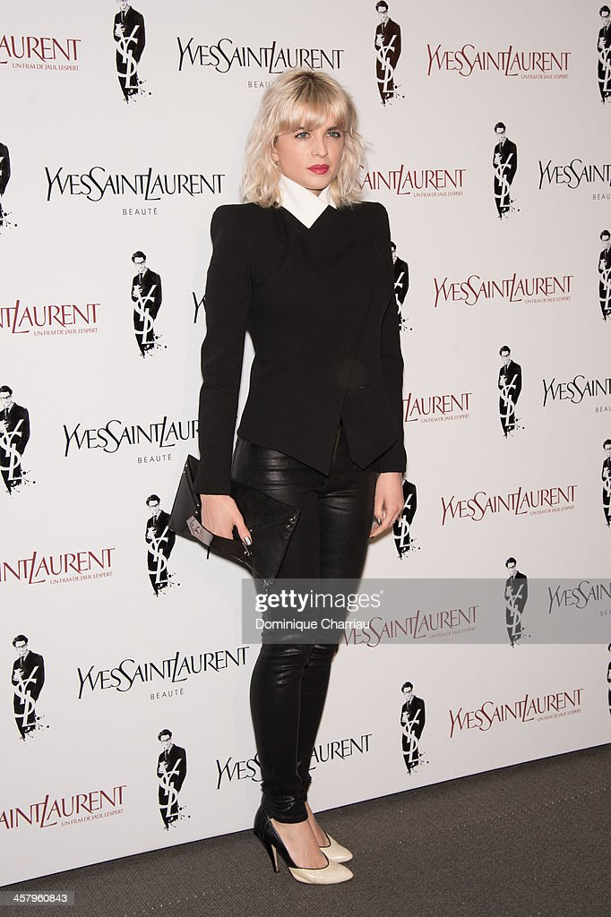 Cecile Cassel attends the 'Yves Saint Laurent' Paris Premiere at Cinema UGC Normandie on December 19, 2013 in Paris, France.