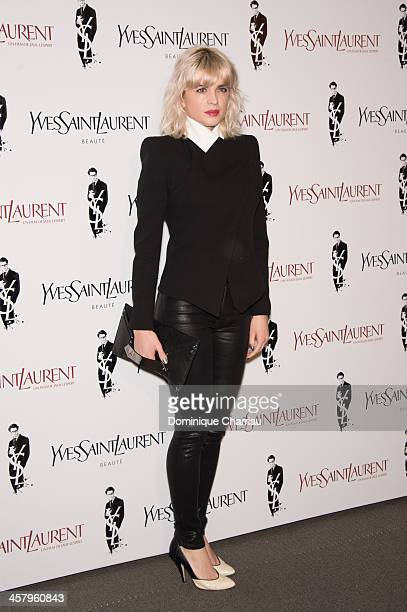 Cecile Cassel attends the 'Yves Saint Laurent' Paris Premiere at Cinema UGC Normandie on December 19 2013 in Paris France