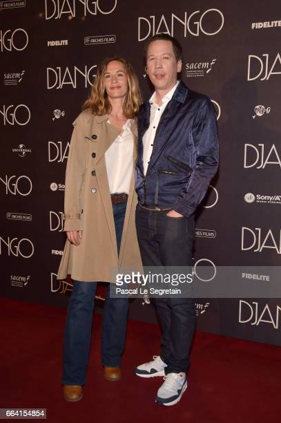 Cecile de France and Reda Kateb attend 'Django' Premiere at Le Grand Rex on April 3 2017 in Paris France
