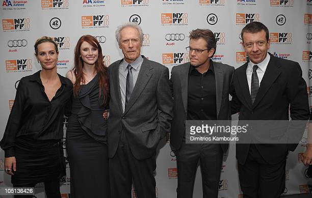 Cecile de France Bryce Dallas Howard Director/Producer Clint Eastwood Matt Damon and Executive Producer Peter Morgan attend the 'Hereafter' premiere...