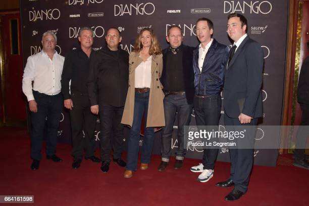 Cecile de France Etienne Comar Reda Kateb and guests attend 'Django' Premiere at Le Grand Rex on April 3 2017 in Paris France