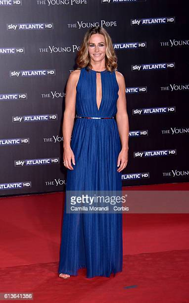 Cecile De France walks the red carpet at 'The Young Pope' premiere on October 9 2016 in Rome Italy Cecile De France