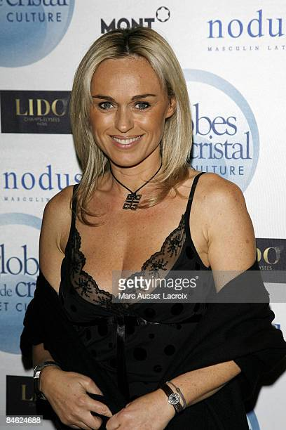 Cecile de Menibus attends Globes of Cristal Awards for Art and Culture on February 2 2009 in Paris France