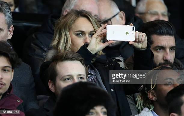 Cecile de Menibus attends the French League Cup match between Paris SaintGermain and FC Metz at Parc des Princes stadium on January 11 2017 in Paris...
