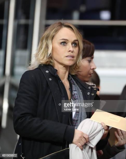 Cecile de Menibus attends the French League Cup match between Paris SaintGermain and FC Metz at Parc des Princes on January 11 2017 in Paris France