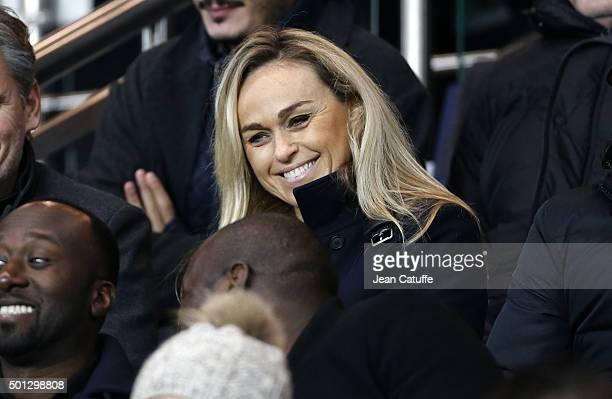 Cecile de Menibus attends the French Ligue 1 match between Paris SaintGermain and Olympique Lyonnais at Parc des Princes stadium on December 13 2015...