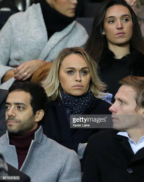 Cecile de Menibus attends the French Ligue 1 match between Paris SaintGermain and Stade Rennes FC at Parc des Princes on November 6 2016 in Paris...