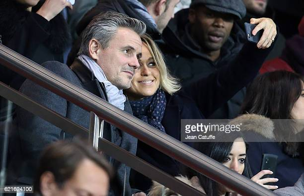 Cecile de Menibus attends the French Ligue 1 match between Paris SaintGermain and Stade Rennais FC at Parc des Princes stadium on November 6 2016 in...