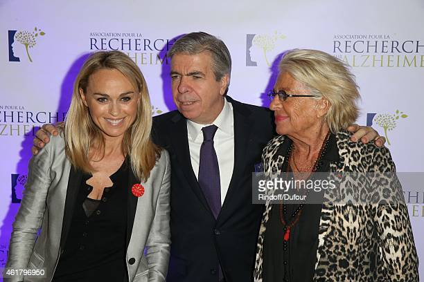 Cecile de Menibus Bruno Dubois and Veronique de Villele attend the 10th Charity Gala Against Alzheimer's Disease At L'Olympia In Paris at L'Olympia...