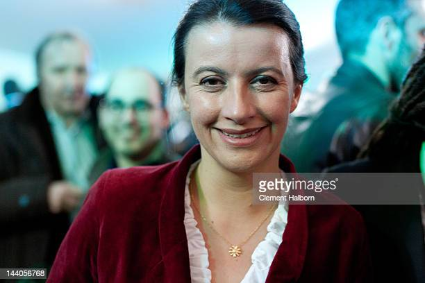 Cecile Duflot attends celebrations following the victory of Socialist Francois Hollande in the French presidential election at Place de La Bastille...