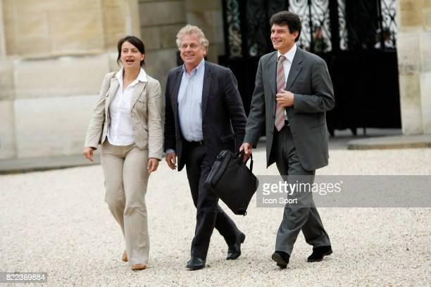 Cecile DUFLOT / Daniel COHN BENDIT President du groupe Verts / Ale au parlement Europeen Rencontre avec Nicolas Sarkozy Palais de l Elysee Paris