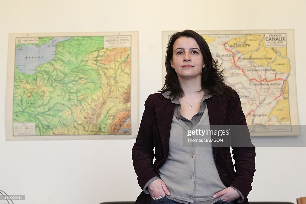 Cecile Duflot, leader of the French Green Party Europe Ecologie-Les Verts, in her office on February 8, 2011 in Paris, France.