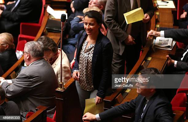 Cecile Duflot participates at the Questions to the Government at the French National Assembly on May 7 2014 in Paris France