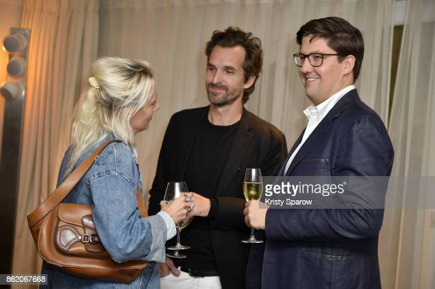 Cecile Fricker Lehanneur Mathieu Lehanneur and Spencer Bailey attend the Surface Magazine Fall Fashion Issue 2017 Presentation on October 16 2017 in...