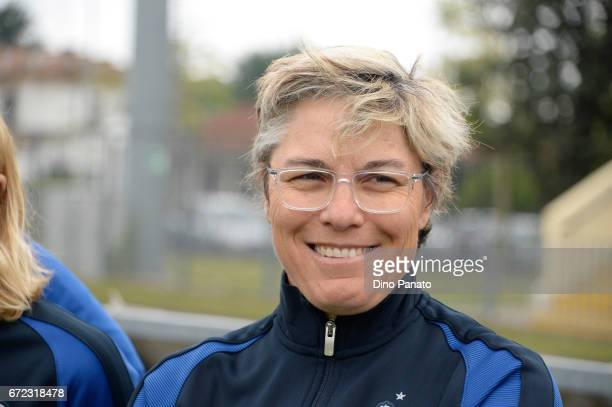 Cecile Locatelli head coach of France women's U16 looks on during the 2nd Female Tournament 'Delle Nazioni' match between Italy U16 and France U16 at...