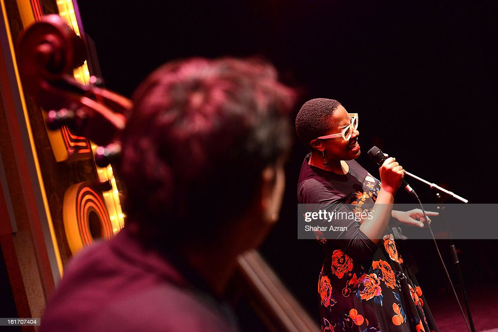 Cecile McLorin Salvant performs at 2013 Dining With The Divas at The Apollo Theater on February 14, 2013 in New York City.