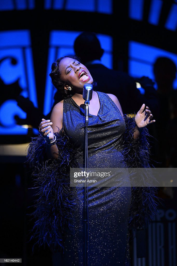 Cecile McLorin Salvant performs during Apollo Club Harlem at The Apollo Theater on February 18, 2013 in New York City.
