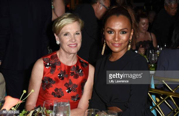 Cecile Richards and Janet Mock attend PEN Center USA's 27th Annual Literary Awards Festival on October 27 2017 in Beverly Hills California