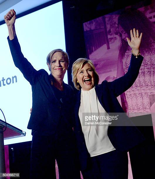 Cecile Richards Planned Parenthood Action Fund President introdces Democratic Presidential candidate Hillary Clinton at an endorsement event at...