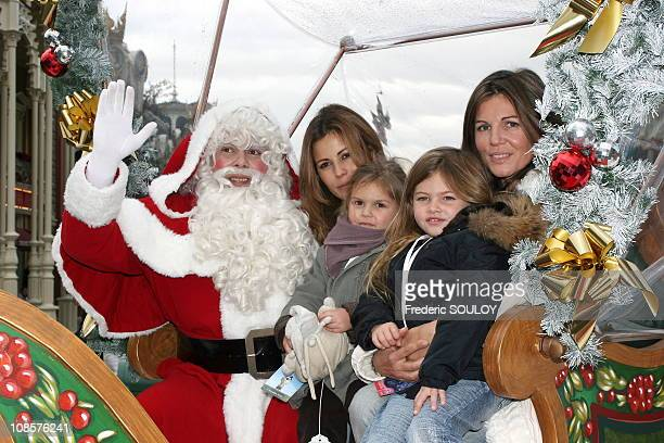 Cecile Simeone and Veronika Loubry and their daughters in MarneLaVallee France on November 05th 2005